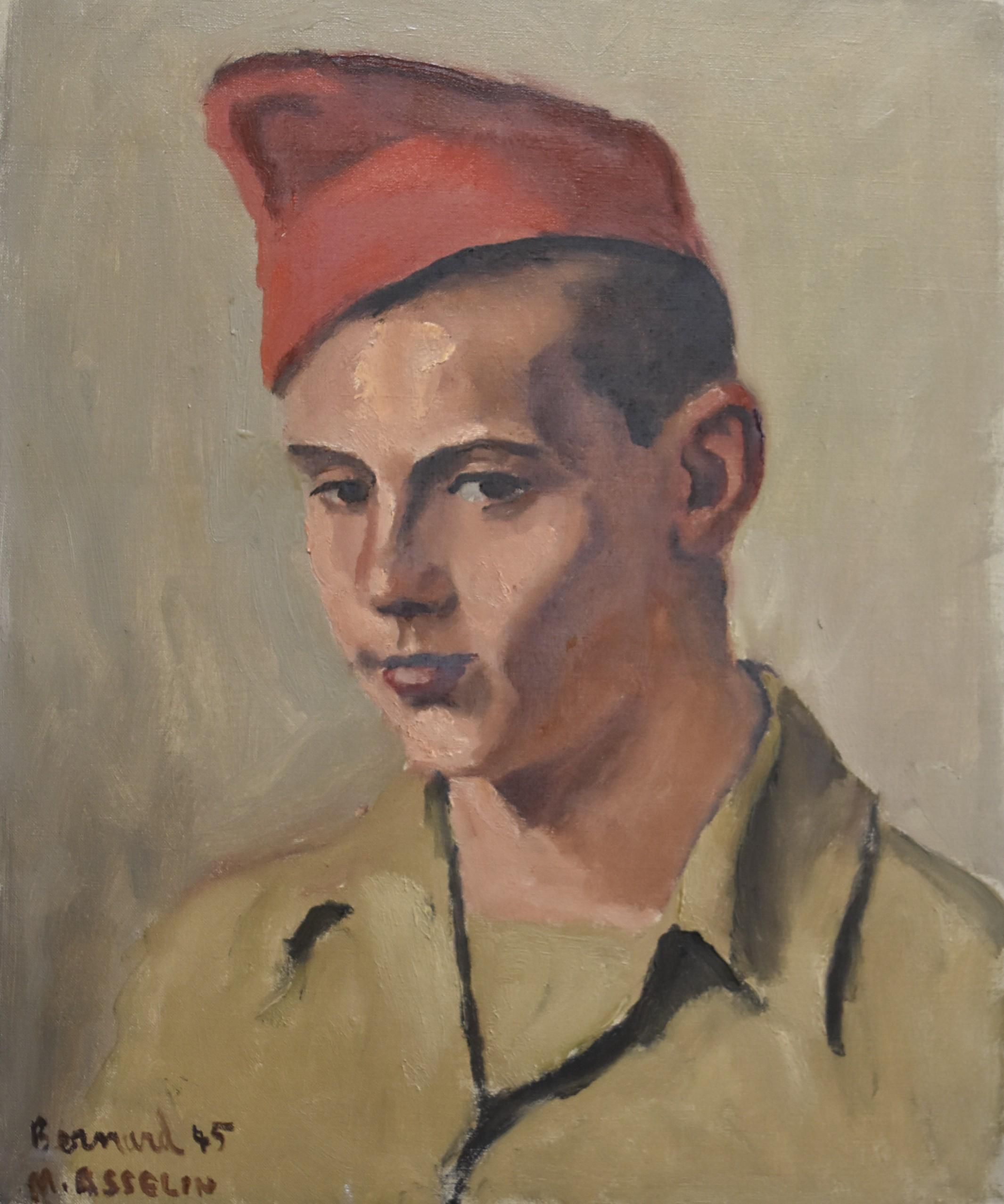 Maurice Asselin (1882-1947) Portrait of Bernard in uniform, 1945, oil on canvas