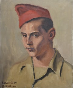 Maurice Asselin (1882-1947) Portrait of Bernard in uniform, 1945, oil on canvas