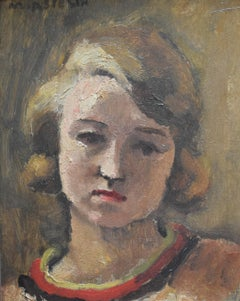 Maurice Asselin (1882-1947) Portrait of woman, 1929, oil on mahogany panel