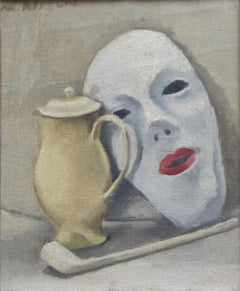 Maurice Asselin (1882-1947) Stilllife with a mask, Signed oil on canvas