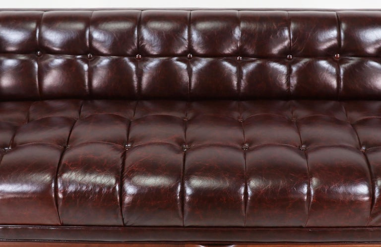 Maurice Bailey Biscuit-Tufted Leather Sofa for Monteverdi-Young For Sale 7