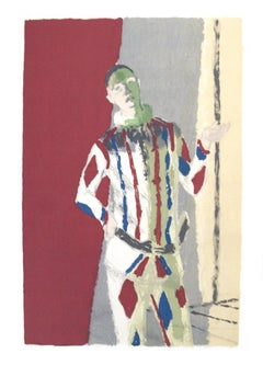 1972 Maurice Brianchon 'L'Arlequin' Surrealism Multicolor,Red France Lithograph