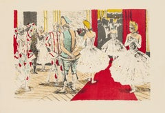 Dancers in Theatre - Original Lithograph by Maurice Brianchon