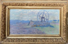 19th century French impressionist painting Paysage en Provence, Lavender genre