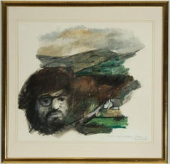 Maurice Cockrill RA - 1968 Signed Modern British Mixed Media, Paul in the Sky