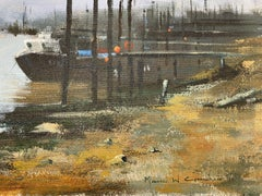 Maurice Crawshaw (b.1947) Signed Impressionist Oil - At The Harbour