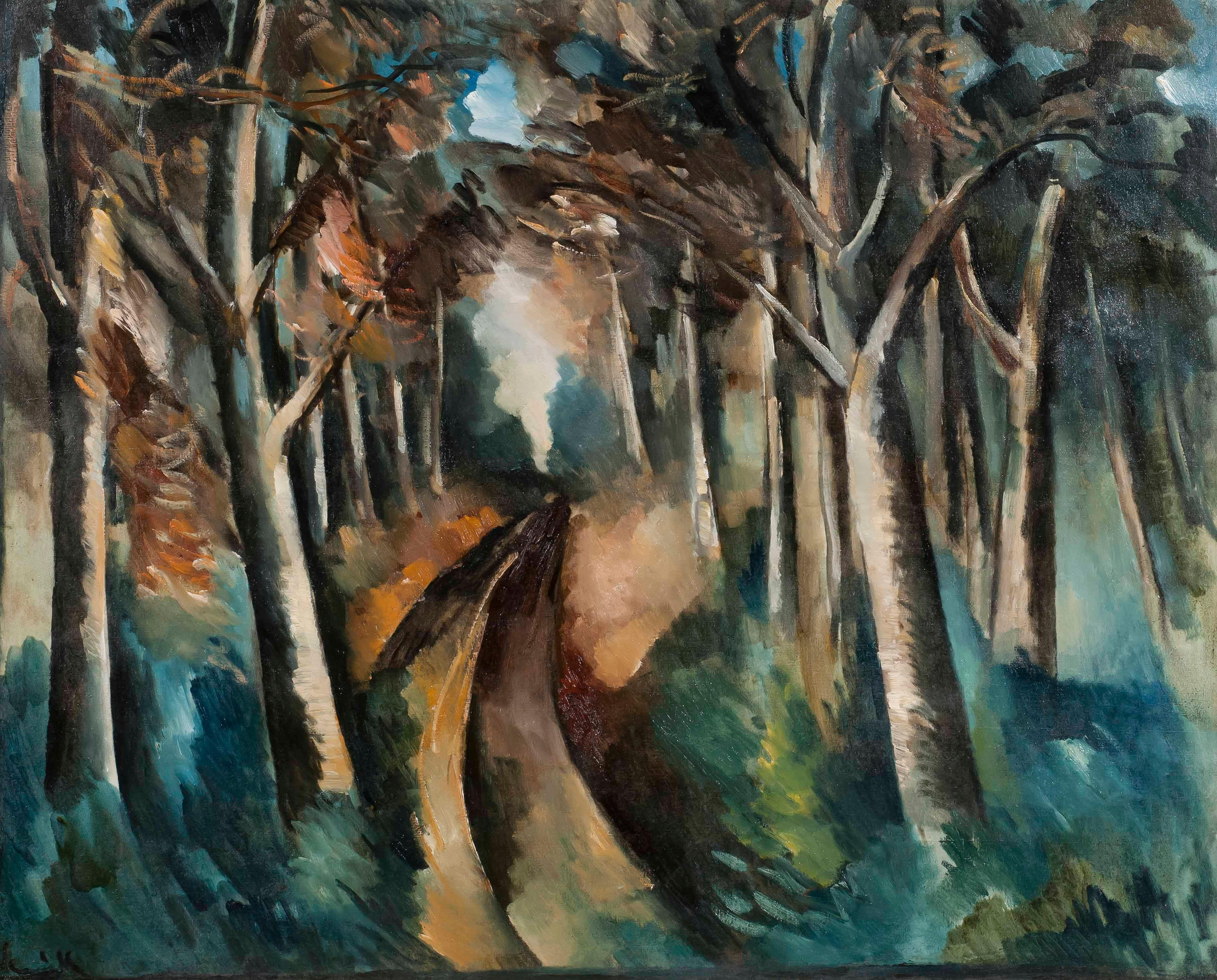 Bois à La Jonchère - Maurice de Vlaminck, modern, trees, landscape, forest, art