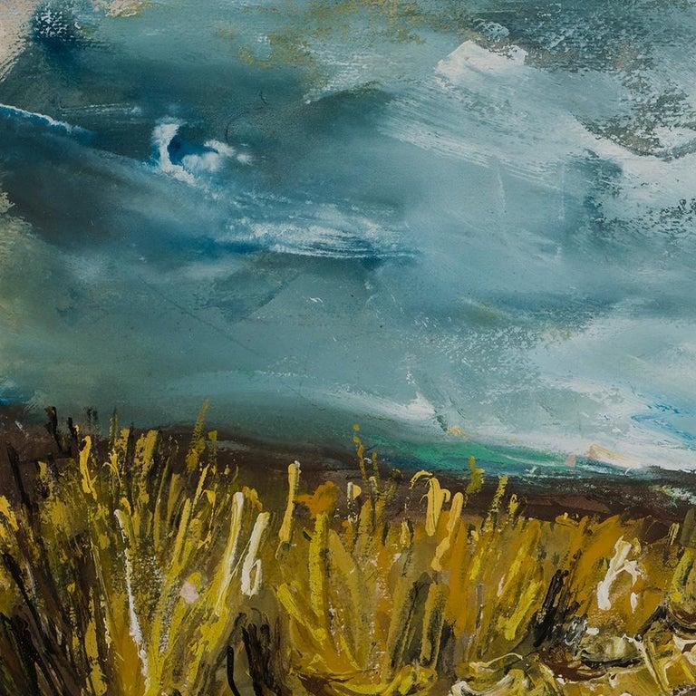 Bottes de paille - Gray Landscape Painting by Maurice de Vlaminck