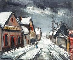 Rue de Village Sous la Neige by Maurice de Vlaminck
