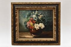 Vase des fleurs - French Fauvism Artist Oil Canvas Flowers Still-life