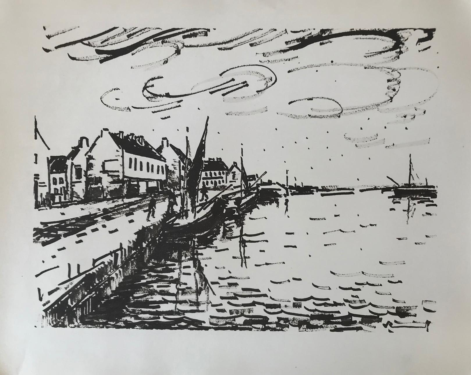 Le Bassin ( A Lithograph from Notre Pain Quotidien)