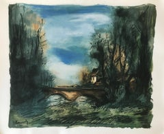 Le Petit Pont ( A Lithograph from Notre Pain Quotidien)