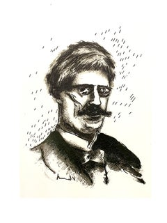 Maurice de Vlaminck - Portrait - Original Lithograph