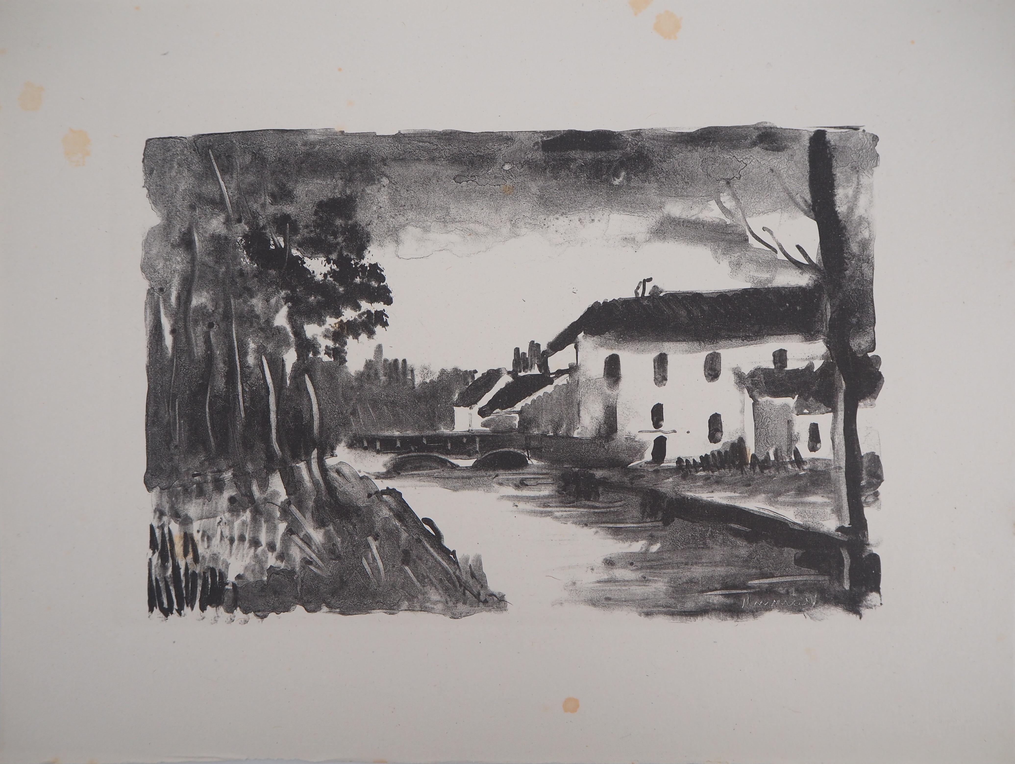 Moulin de la Naze - Original lithograph, (K. de Walterskirchen #181)