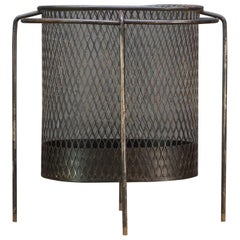 Maurice Duchin Floating Iron Mesh Wastebasket Trash Can Expanded Metal Modern
