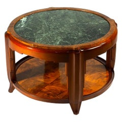 Maurice Dufrene Low Round Table with Marble Top
