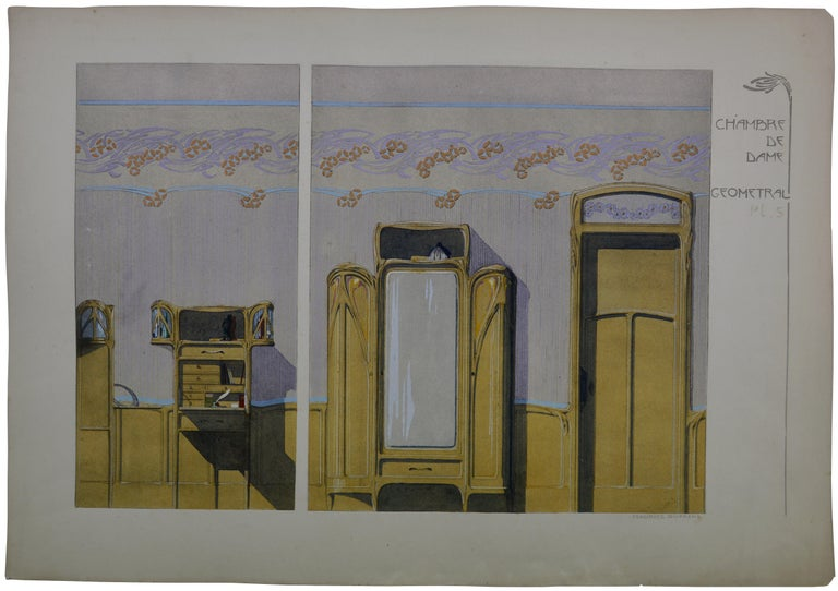 Lady's Room, Set of 4 Lithographs, 1906 - Print by Maurice Dufrène