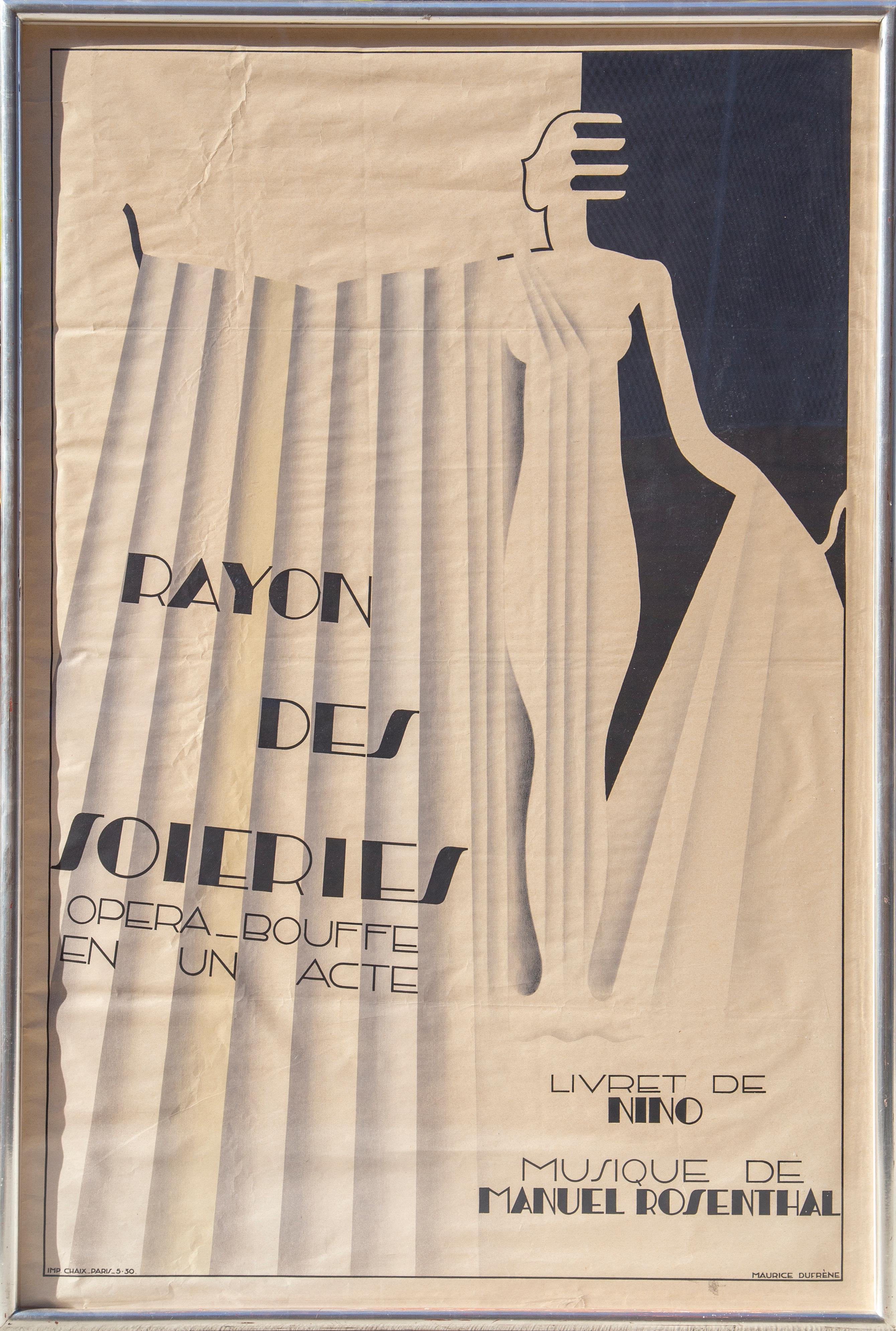 Rayon des Soieries, French Opera Poster by Maurice Dufrene 1930