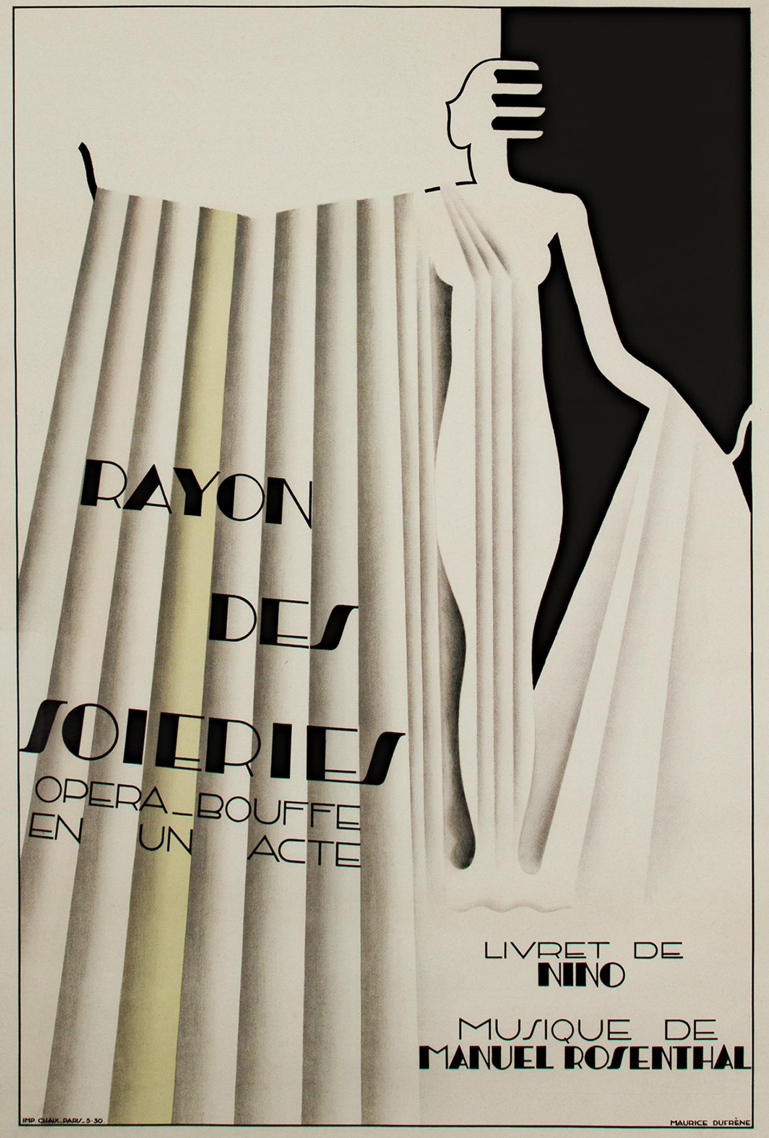"""Rayon des Soieries, Opera Bouffe en un Acte,"" Litho Poster by Maurice Dufrene"
