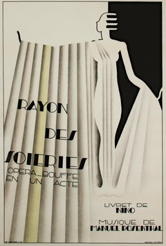 """Rayon des Soieries, Opera Bouffe en un Acte,"" Litho Poster by Maurice Dufrene"