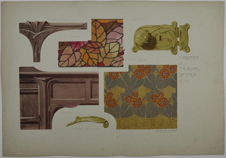 Study, 3 Lithographs, 1906 - Art Nouveau Print by Maurice Dufrène