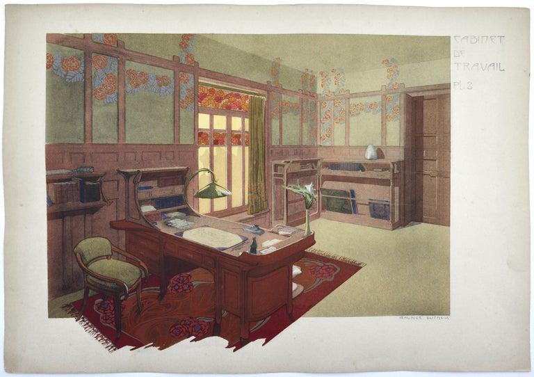Maurice Dufrène Interior Print - Study, 3 Lithographs, 1906