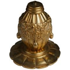 Maurice Dufrene Small Gilt Bronze Lamp
