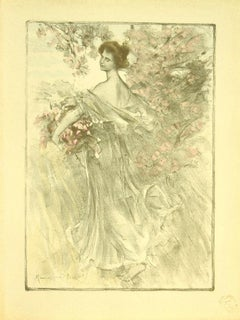Printemps - Original Lithograph by Maurice Eliot - 1898
