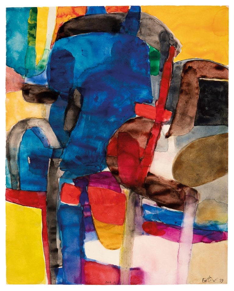 Maurice Estève was born in the French town of Culan (Département Cher) on 2 May 1904. In 1913 he moved to Paris with his parents, where he soon began his education as an artist. Estève worked for a year as designer in a textile factory in Barcelona