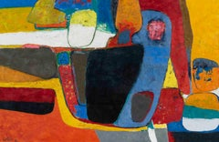 Le Boischaut - Maurice Esteve, modern, colorful, french, painting, abstract, art