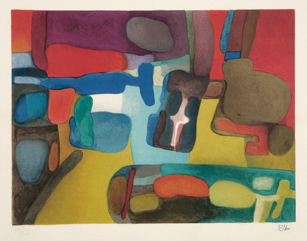 Cali - 20th Century, Maurice Estève, Abstract Print, Colourful, Lithograph