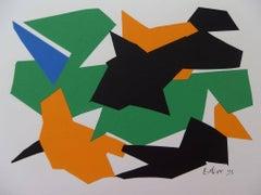 Decoupage VI - Original Signed Screen Print - 1995