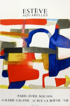 La Cigale - Galerie Galanis By Maurice Estève, 1956