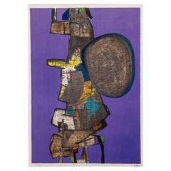 Maurice Estève, Bank Street, 1967, Lithograph on Paper, Framed Museum-Glass