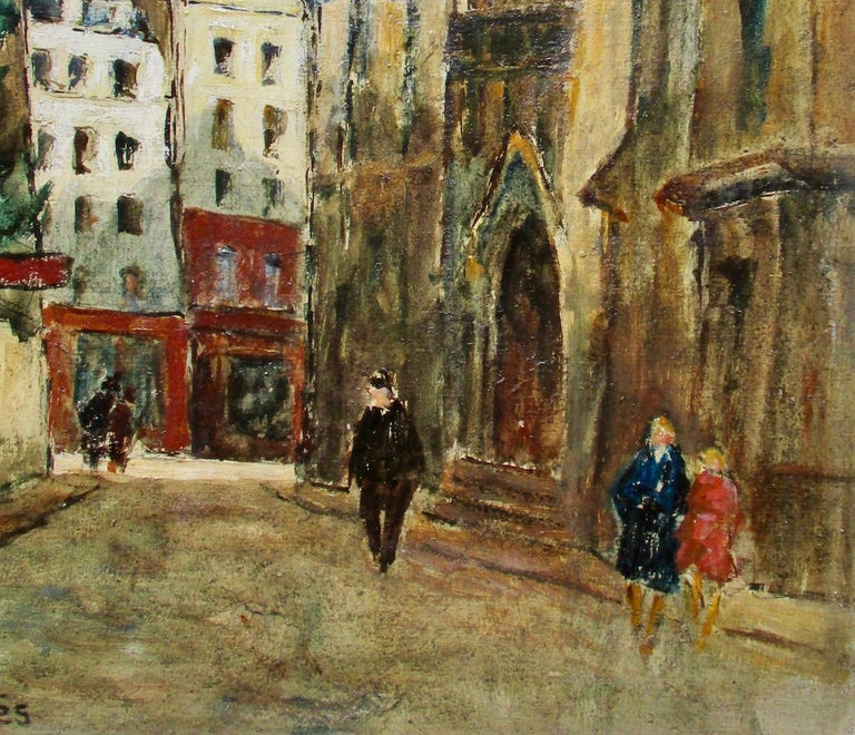 The Latin Quarter in front of the church St Severin, by Maurice Falliès (French, 1883-1965), an artist who specialised in Paris street scenes. His work was recently shown at the Musée de l'Ile de France/Chateau de Sceaux, alongside the likes of