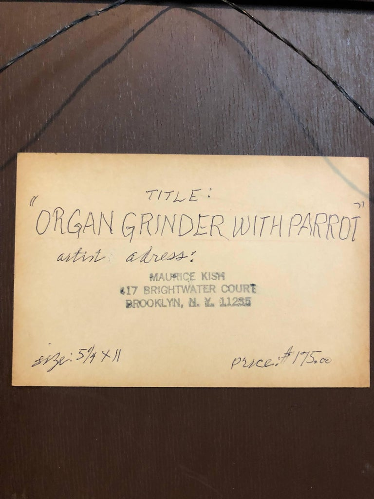 Maurice Kish Organ Grinder With Parrot Modern Judaica