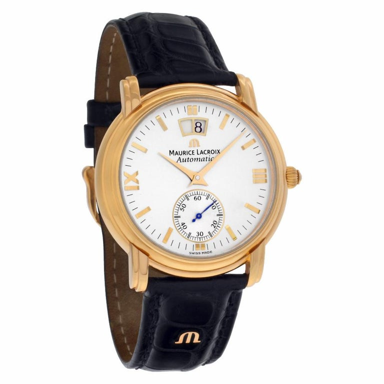 Maurice Lacroix Grand Guichet 58788, White Dial, Certified In Excellent Condition For Sale In Miami, FL