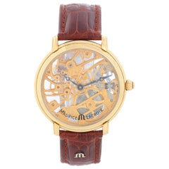 Maurice Lacroix Masterpiece Squelette 18K Yellow Gold Mens Watch