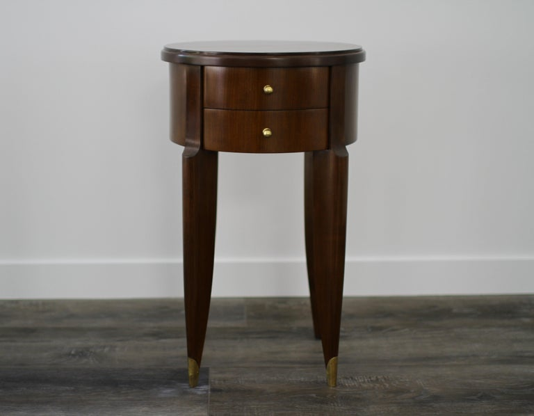 French Maurice & Leon Jallot Pair of Side Tables, 1945 For Sale
