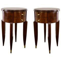 Maurice & Leon Jallot Pair of Side Tables, 1945