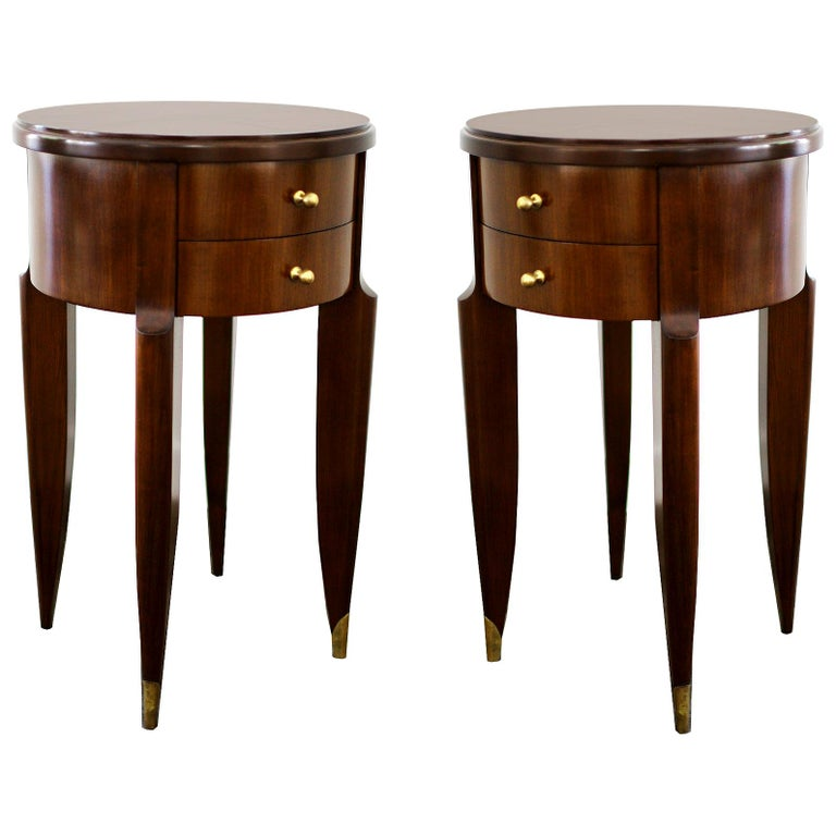 Maurice & Leon Jallot Pair of Side Tables, 1945 For Sale
