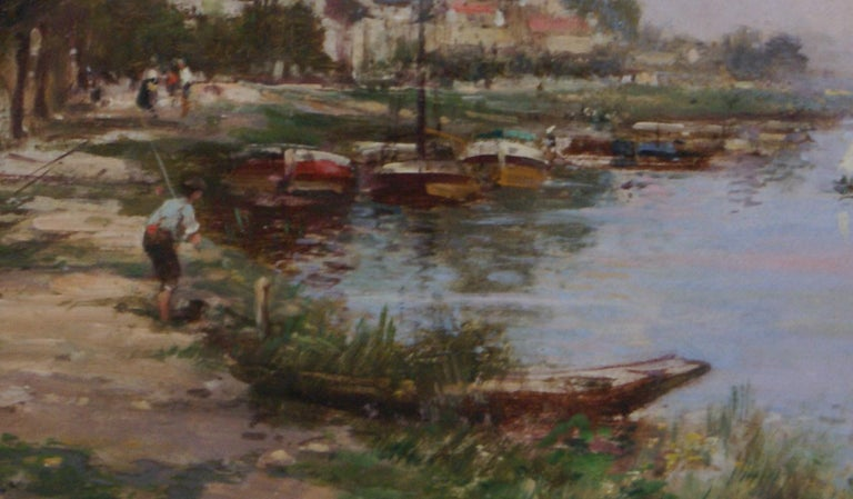 Fisherman's Cove - Impressionist Painting by Maurice Levis