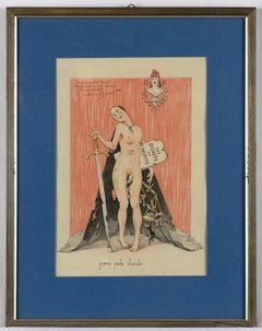 Poena Pede Claudo - Original Lithograph by Maurice Neumont - Early 20th Century