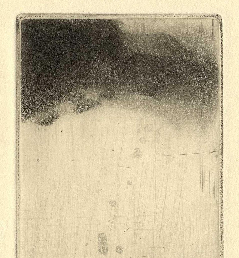 Looking Up (left profile of  a man looking toward the heavens) - Print by Maurice Pasternak