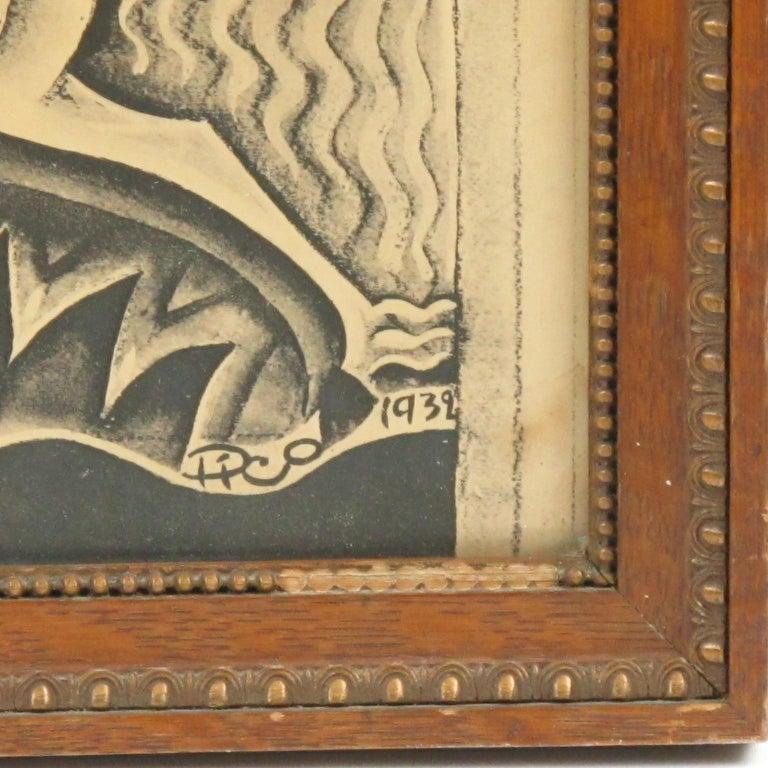 Maurice Picaud Aka Pico Rare French Automobile Magazine Art Deco Print Design 5
