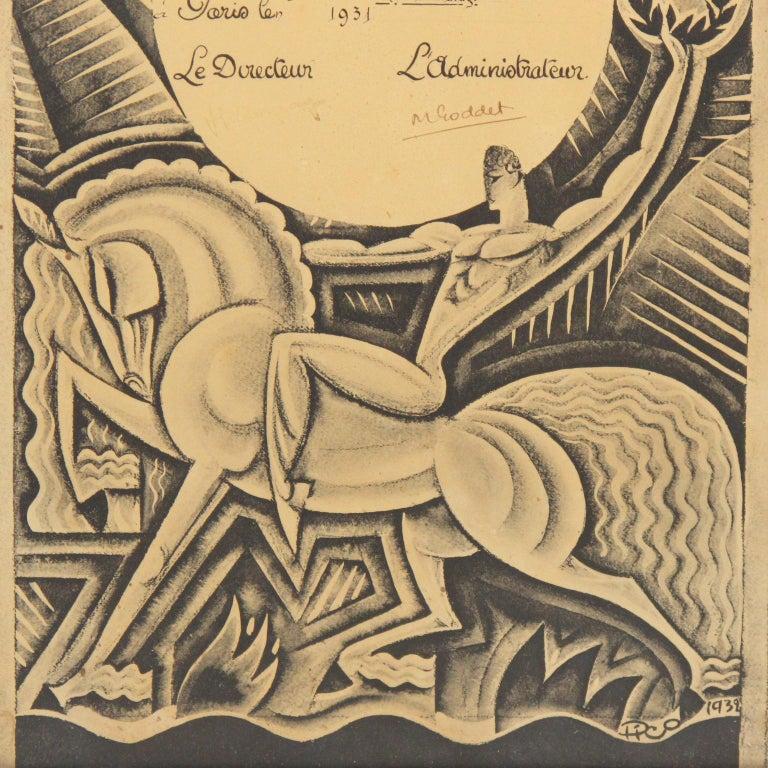 Mid-20th Century Maurice Picaud Aka Pico Rare French Automobile Magazine Art Deco Print Design
