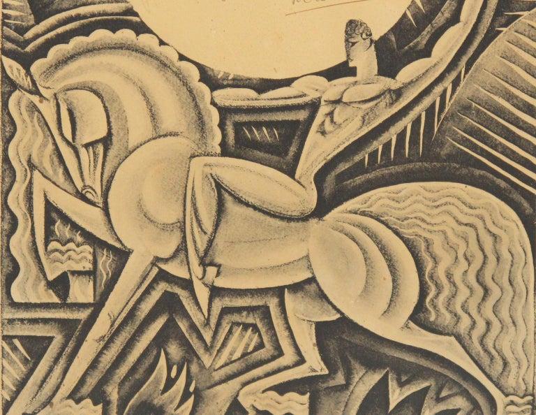 Maurice Picaud Aka Pico Rare French Automobile Magazine Art Deco Print Design 1