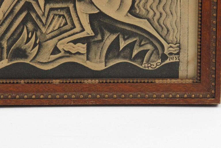 Maurice Picaud Aka Pico Rare French Automobile Magazine Art Deco Print Design 4