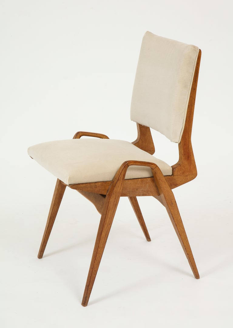 Maurice Pre 6 Dining Chairs, Midcentury, France, 1950s For Sale 2