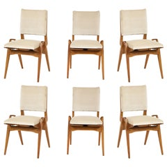 Maurice Pre 6 Dining Chairs, Midcentury, France, 1950s